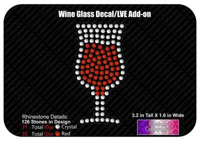 Wine Glass Decal LVE Add-on