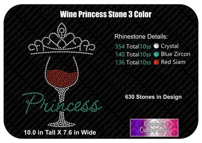 Wine Princess 3 Color Stone