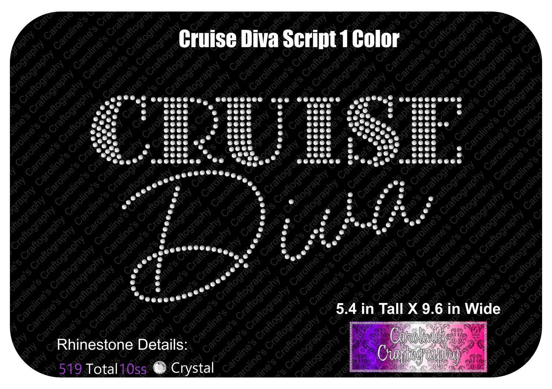 Cruise Diva Script 1 Color Stone