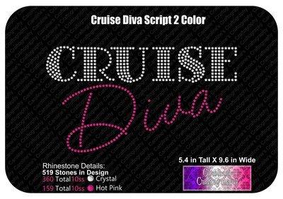 Cruise Diva Script 2 Color Stone
