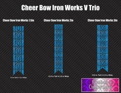 Iron Works Cheer Bow Vinyl Trio