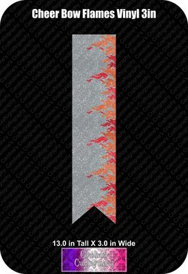 Flames Vinyl 3in Cheer Bow