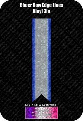 Edge Lines Cheer Bow 3in Vinyl