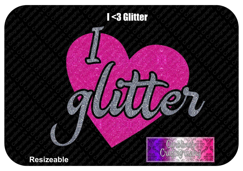 I heart <3 Glitter Vinyl