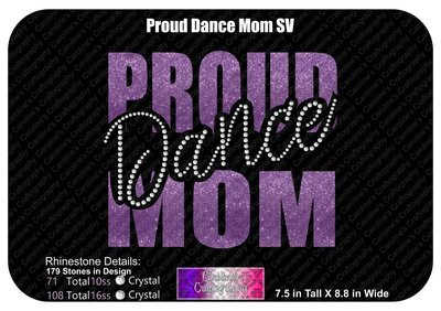 Proud Dance Mom Stone Vinyl (SV)