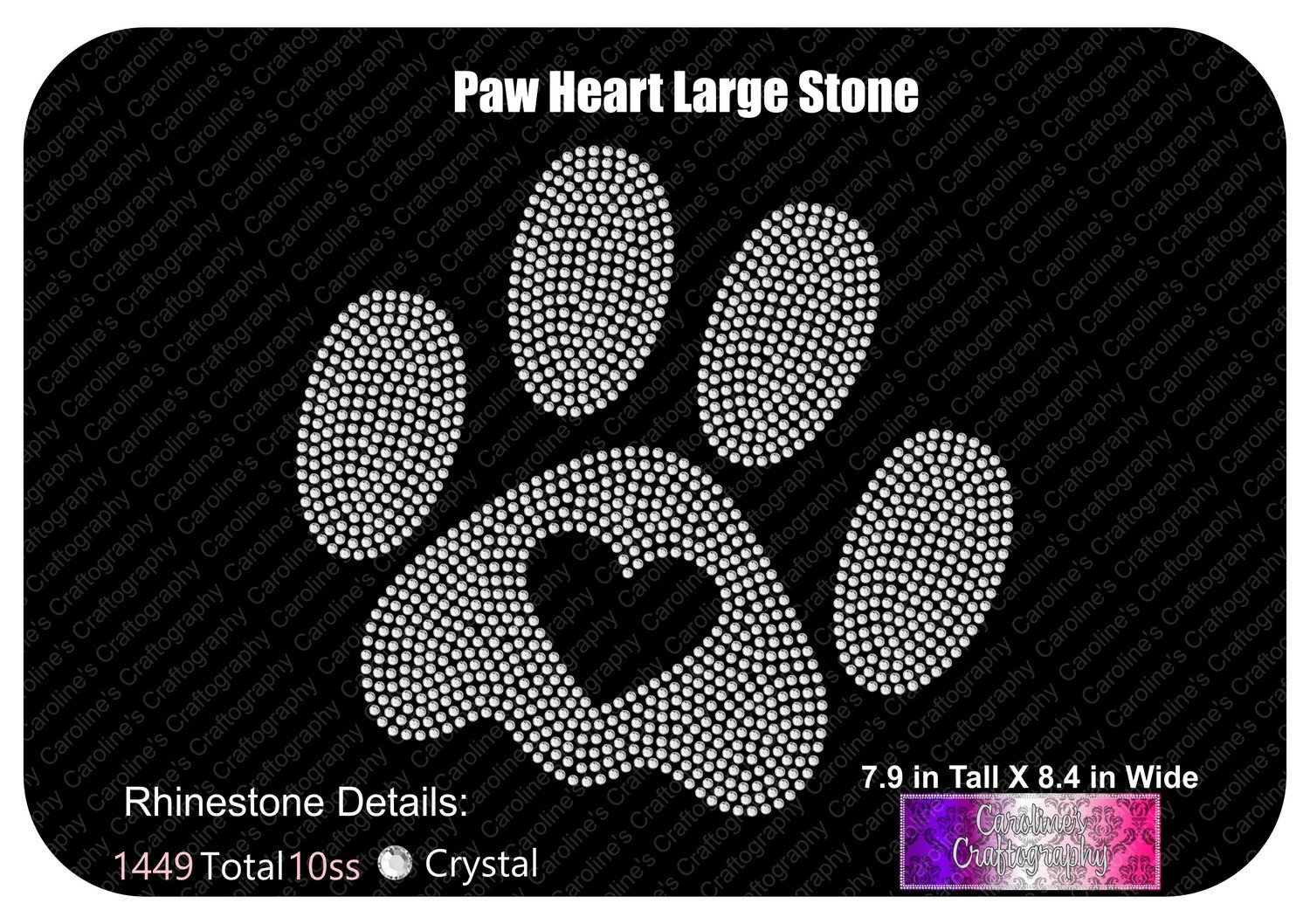 Paw Heart Large Stone