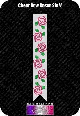 Roses Vinyl 2in Cheer Bow