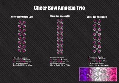 Ameoba Stone Vinyl Trio Cheer Bow
