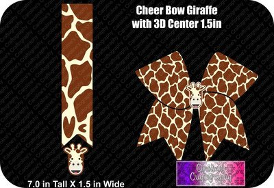 Giraffe 1.5in with 3D Center Cheer Bow