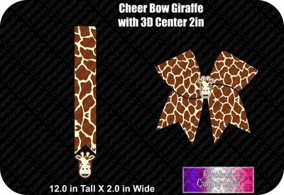 Giraffe 2in with 3D Center Cheer Bow
