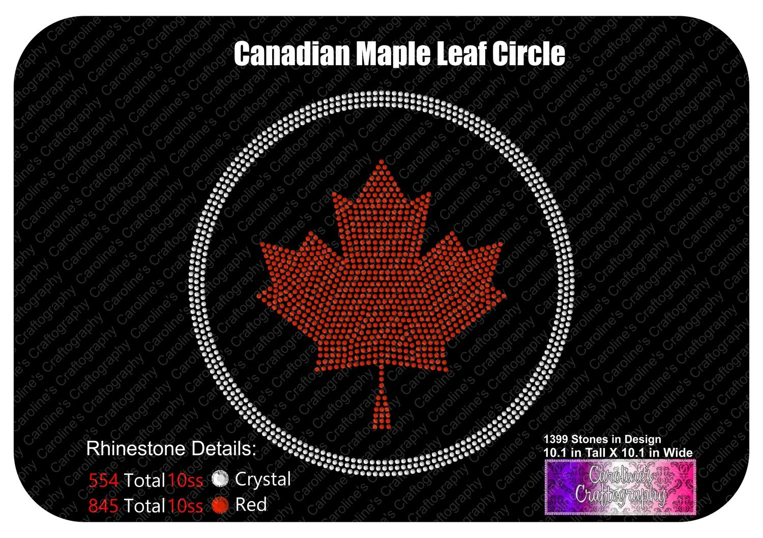 Canadian Maple Leaf Circle