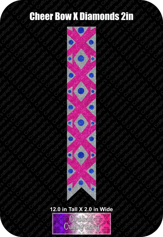 X Diamonds 2in Cheer Bow Vinyl