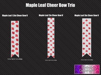 Maple Leaf Trio Cheer Bow Vinyl