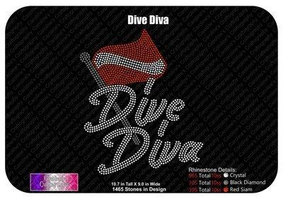 Dive Diva Flag Stone