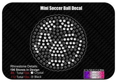 Mini Soccer Ball Decal
