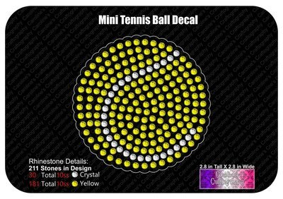Mini Tennis Ball Decal