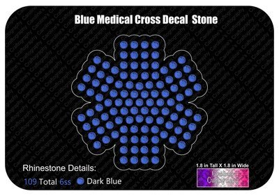 Mini Blue Medical Cross Decal