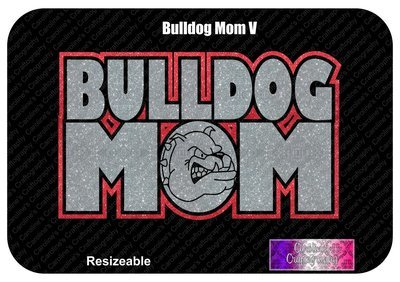 Bulldog Mom Vinyl