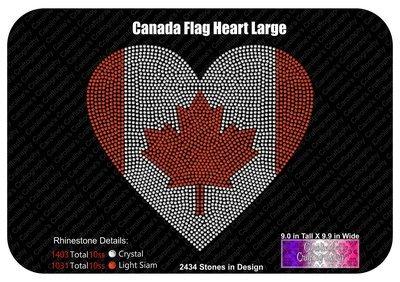 Canada Flag Heart Stone