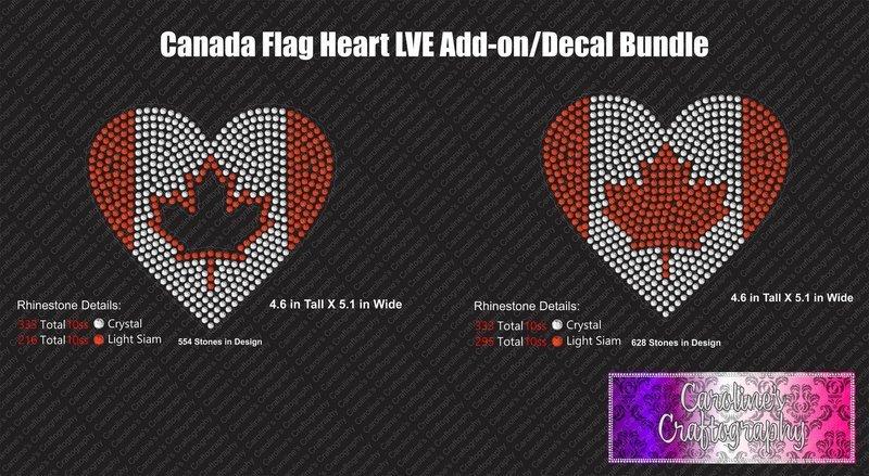 Canada Flag Decal Bundle
