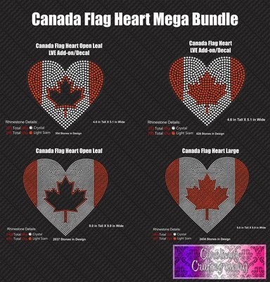 Canada Flag Heart Mega Stone Bundle