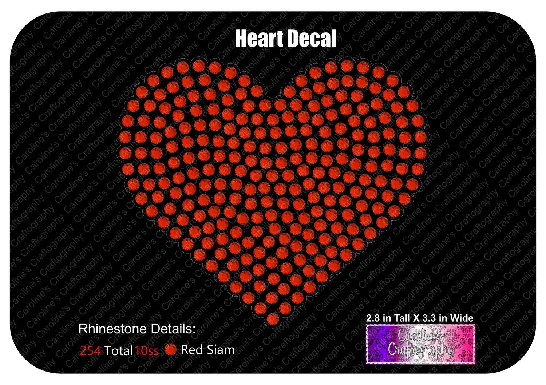 Heart Rhinestone Decal