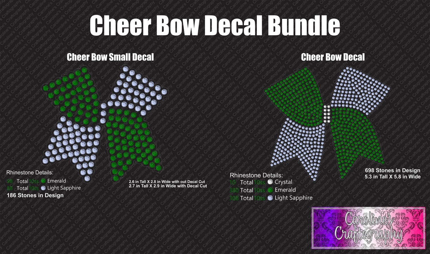 Cheer Bow Decals Bundle