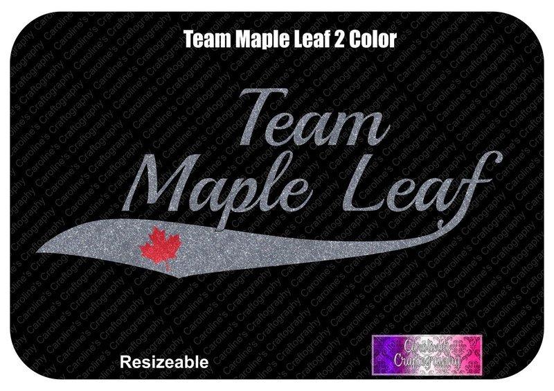 Team Maple Leaf 2 Color Vinyl
