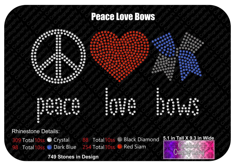 Peace  Love Bows Bow Stone