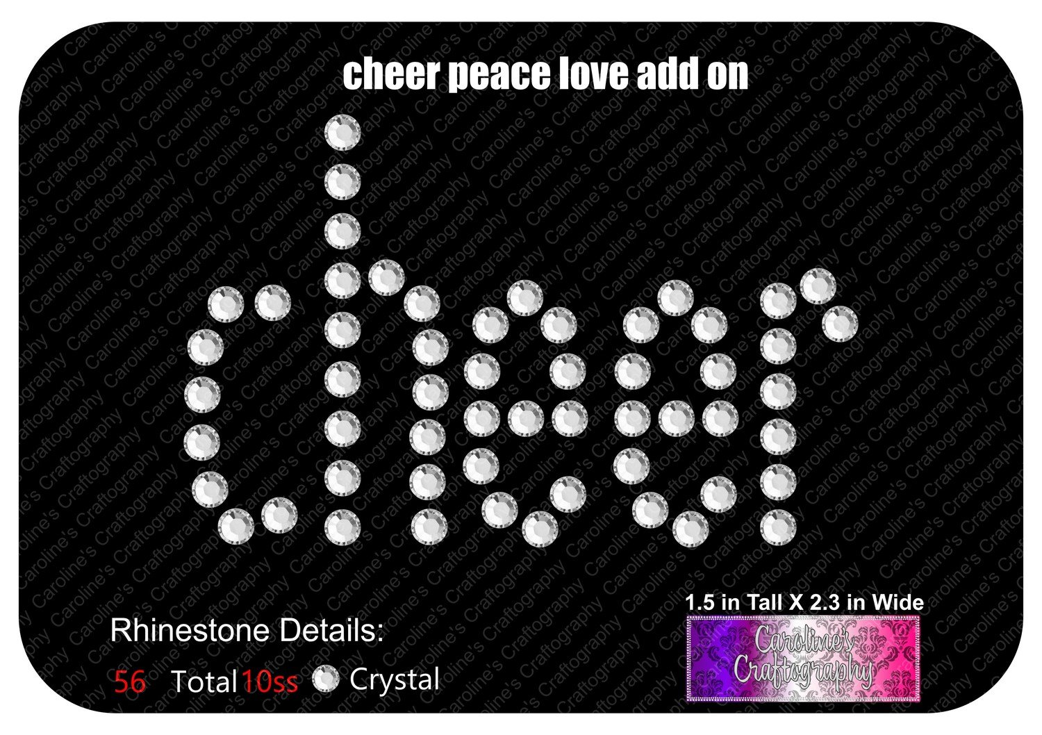 Cheer Add-on for Peace Love Bows Design
