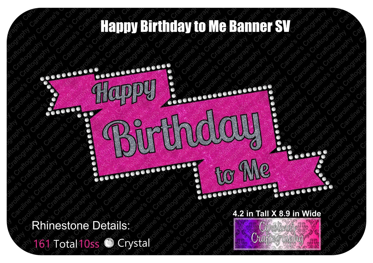 Happy Birthday to Me Banner Stone Vinyl