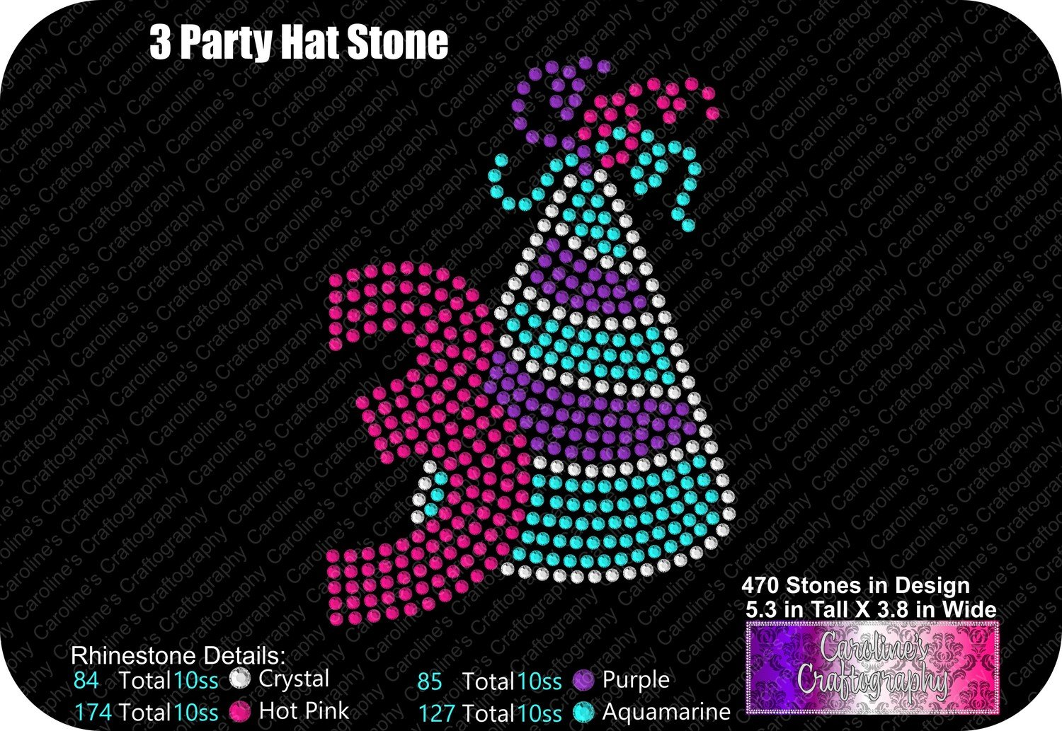 Party Hat Number 3 Stone