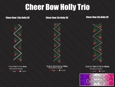Cheer Bow Holly Stone Vinyl Trio
