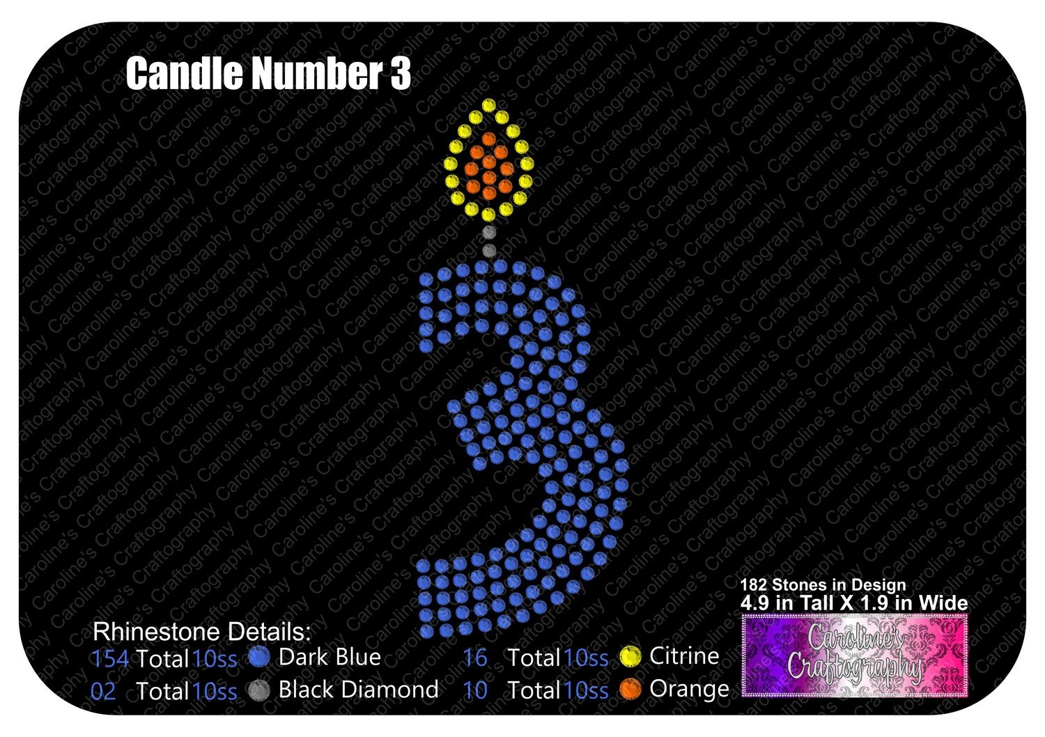 Candle Number 3 Stone
