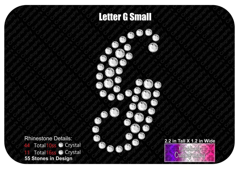 Letter G Script Small Stone