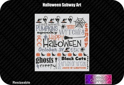 Halloween Subway Art Vinyl