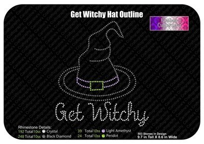 Get Witchy Hat Outline Stone