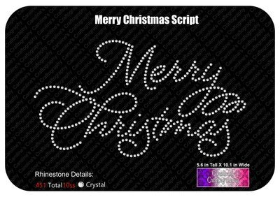 Merry Christmas Script Stone