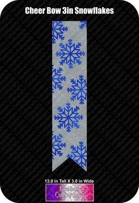 Snowflakes 3in Cheer Bow Vinyl