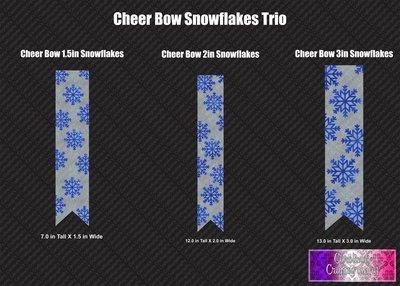 Snowflakes Trio Cheer Bow Vinyl