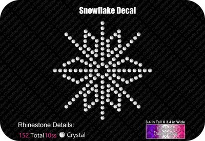 Snowflake Decal Stone