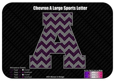 A Chevron Large Sports Letter