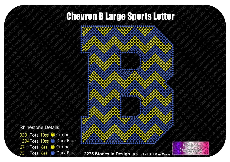 B Chevron Large Sports Letter