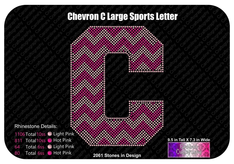 C Chevron Large Sports Letter