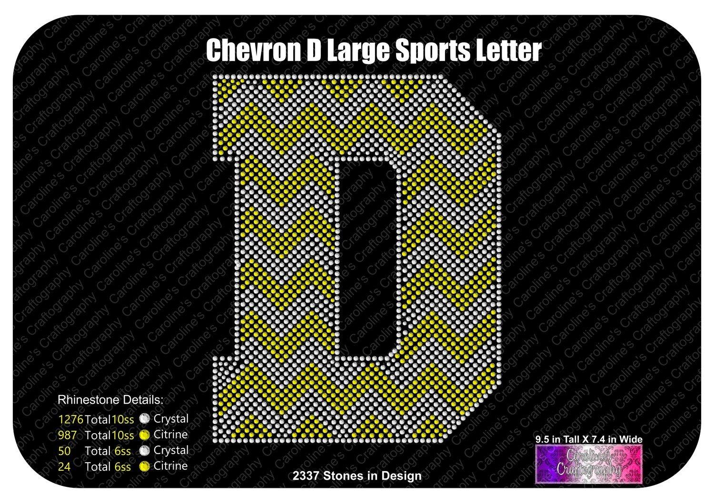 D Chevron Large Sports Letter