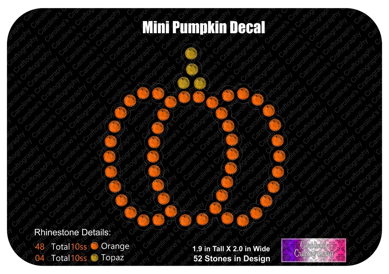 Pumpkin Mini Decal