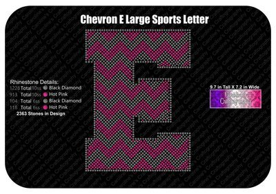 E Chevron Large Sports Letter