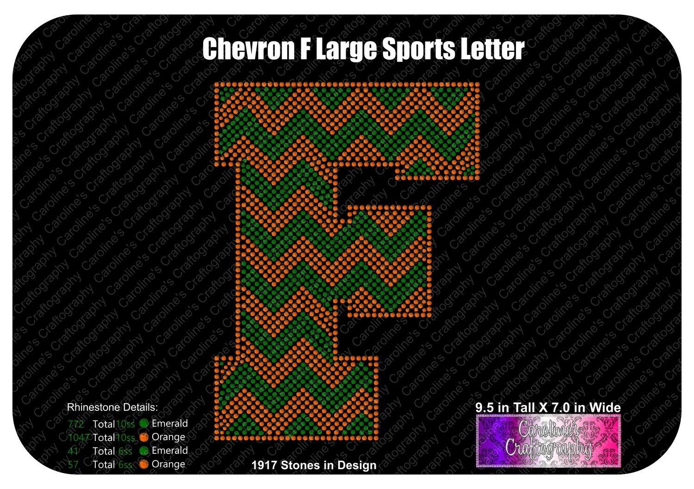F Chevron Large Sports Letter