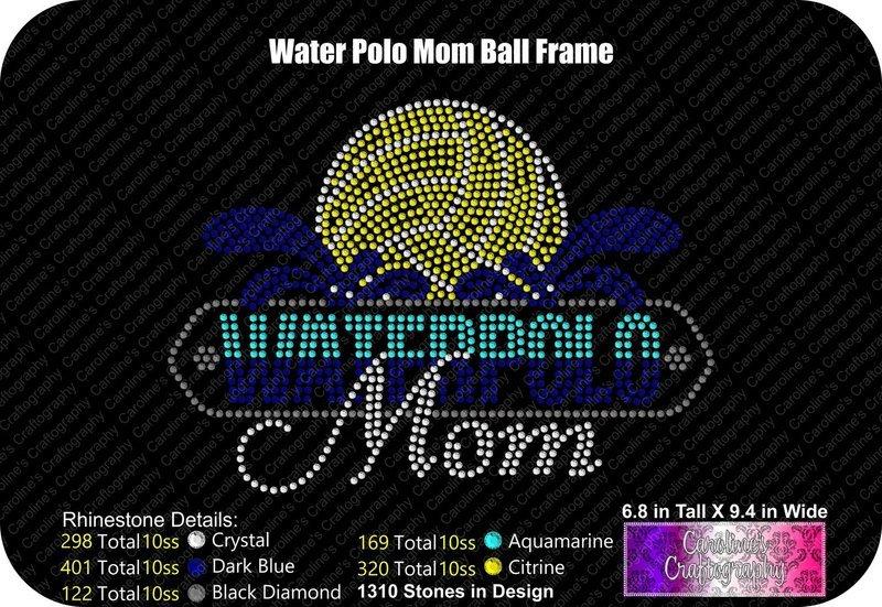 Waterpolo Mom Ball Frame Stone
