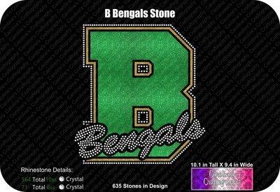 B Bengals Stone Vinyl